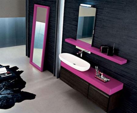 baie-moderna-negru-roz-ciclam