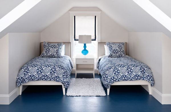 Painted-floor-adds-color-to-this-bedroom