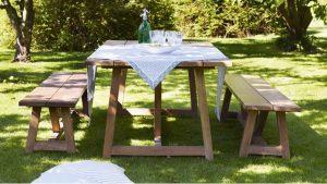 mobilier de gradina din lemn masiv