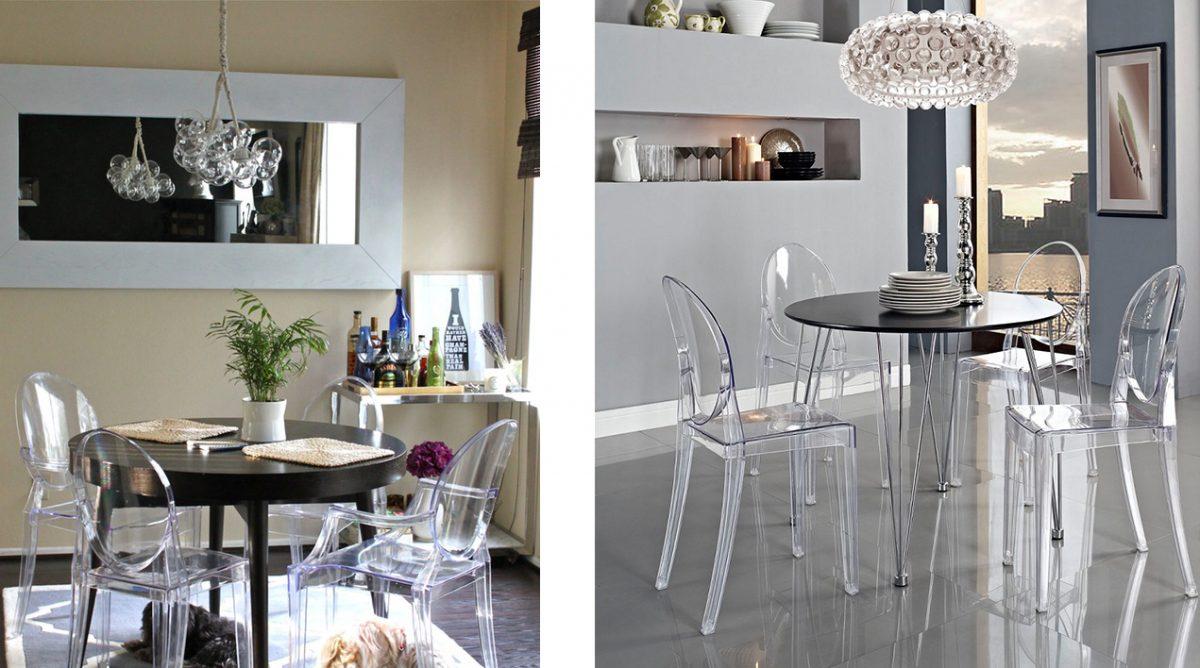 Idei Design Interior-scaune transparente